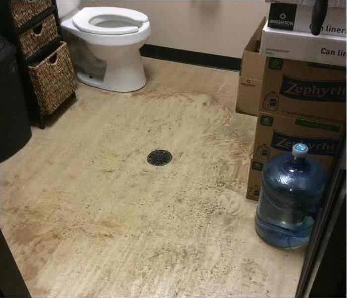 bathroom with water damage