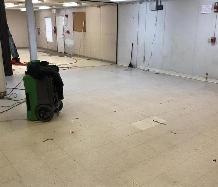 Water Damage to Charlotte School Classroom